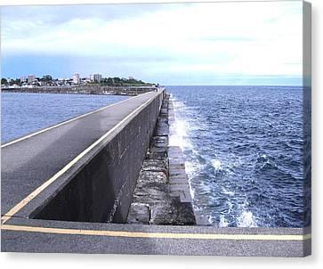 Ogden Point Breakwater Canvas Print