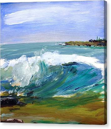 Ogunquit Beach Wave Canvas Print by Scott Nelson
