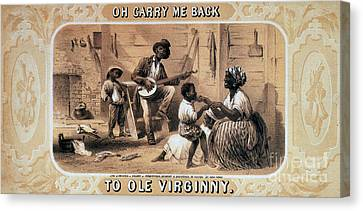 Oh Carry Me Back To Ole Virginny, 1859 Canvas Print by Photo Researchers