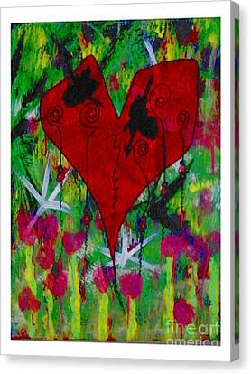 Oh My Green Heart Canvas Print by Donna Daugherty