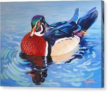 Oh So Blue - Wood Duck  Canvas Print by Carol Reynolds