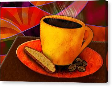 Ohhh.. Coffee Canvas Print by Melisa Meyers