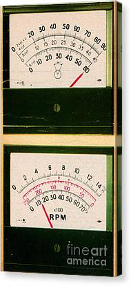 Ohmmeter And Mercury Meter Canvas Print by Science Source