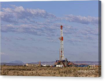 Oil Exploration Drill Canvas Print by Jeremy Woodhouse