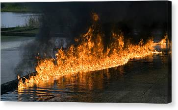 Combusting Canvas Print - Oil Fire by Paul Rapson