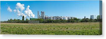 Canvas Print featuring the photograph Oil Refinery by Hans Engbers