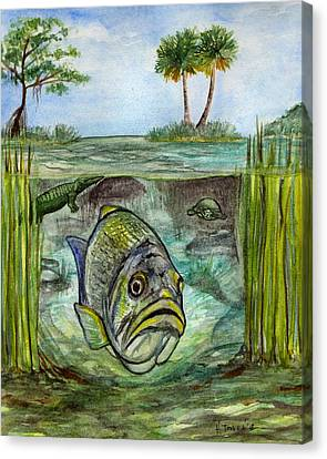 Okeechobee Underwater Canvas Print by Heather Torres