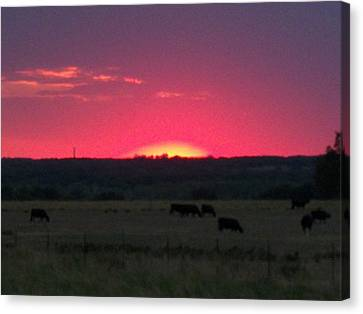 Okie Sunset Canvas Print