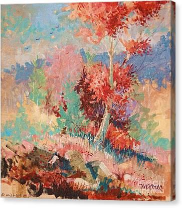 Oklahoma Autumn Canvas Print by Micheal Jones