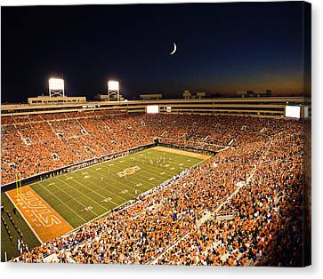 Oklahoma State Boone Pickens Stadium Under The Lights Canvas Print