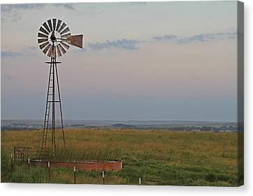 Oklahoma Windmill Canvas Print by Tony Grider