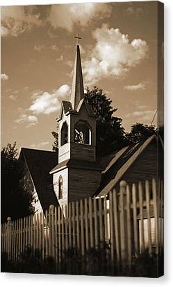 Ol' Church On The Hill Canvas Print by Randall  Cogle