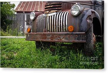 Old Abandoned Pickup Truck Canvas Print by Edward Fielding