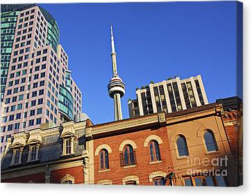 Old And New Toronto Canvas Print by Elena Elisseeva