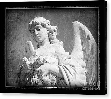 Canvas Print featuring the photograph Old Angel by Jeanne  Woods