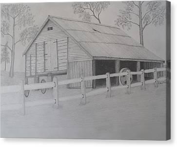 Old Austane Barn Canvas Print by Brian Leverton