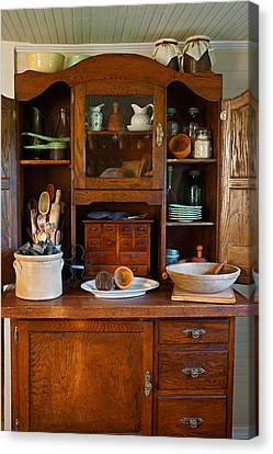 Old Bakers Cabinet Canvas Print by Carmen Del Valle