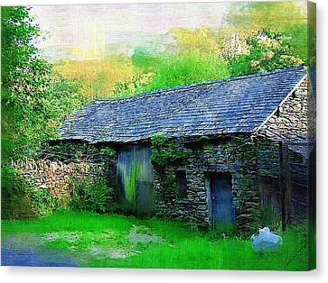 Old Barns Canvas Print - Old Barn by Amanda Moore