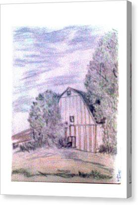 Old Barn Canvas Print by De Beall