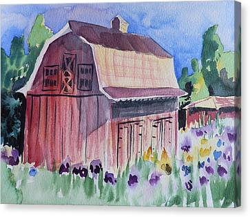 Old Barn In Payson Canvas Print