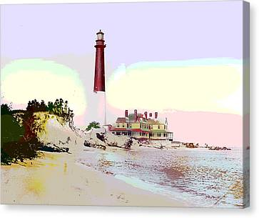 Old Barney Lighthouse Canvas Print by Charles Shoup