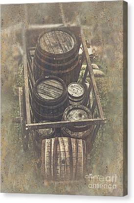 Old Barrels Canvas Print by Jutta Maria Pusl