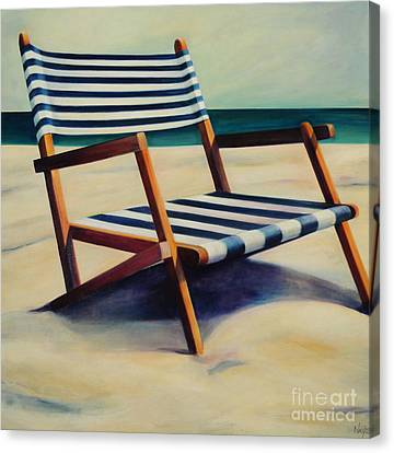 Old Beach Chair Canvas Print by Mary Naylor