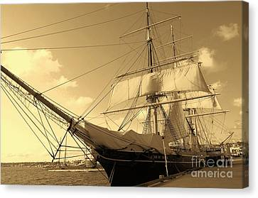 Canvas Print featuring the photograph Old Boat by Jasna Gopic
