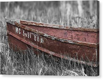Old Boat Washed Ashore  Canvas Print by Joe Gee