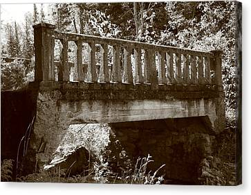 Canvas Print featuring the photograph Old Bridge by Paula Brown