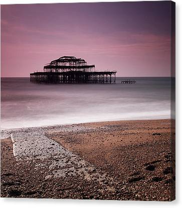 Old Brighton Pier Canvas Print by Nina Papiorek