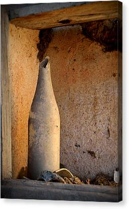 Old Broken Bottle Canvas Print by RicardMN Photography