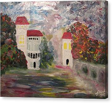 Old Bucharest Residence Canvas Print by Carmen Kolcsar