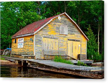 Canvas Print featuring the photograph Old Cabin by Les Palenik