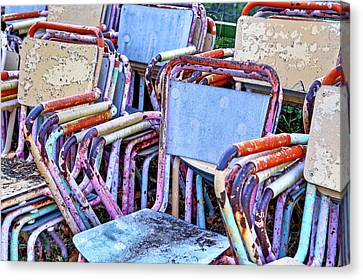 Old Chairs Canvas Print by Joana Kruse