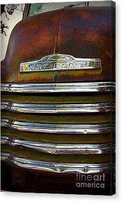 Old Chevrolet Front Grille Canvas Print by ELITE IMAGE photography By Chad McDermott