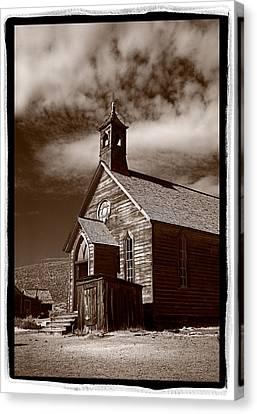 Old Church In Bodie California Canvas Print