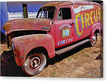 Old Circus Truck Canvas Print