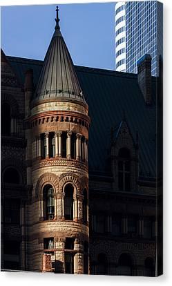 Old City Hall Turret Canvas Print by Matt  Trimble