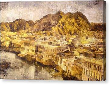 Old City Of Muscat Canvas Print