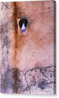 Old Light Bulb Canvas Print - Old City Wall With Grunge Paint Texture by HD Connelly