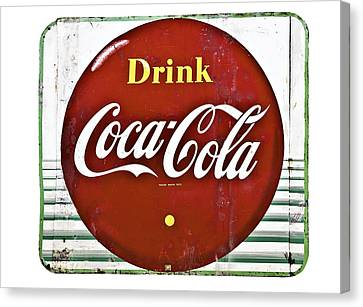 Old Coke Sign Canvas Print by Susan Leggett