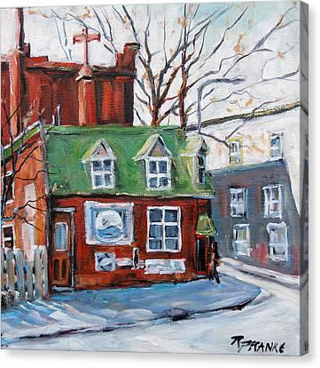 Old Corner Store Montreal By Prankearts Canvas Print by Richard T Pranke
