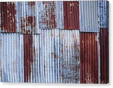 Old Corrugated Iron Canvas Print