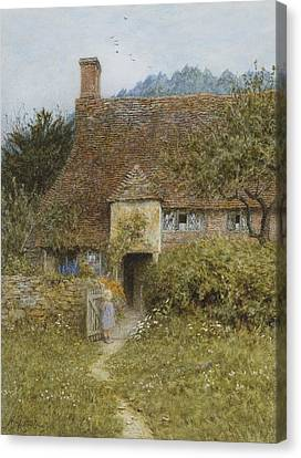 Old Cottage Witley Canvas Print by Helen Allingham