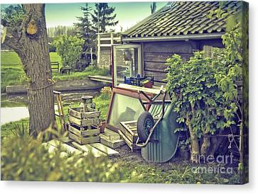 Canvas Print featuring the photograph Old Country House by Ariadna De Raadt