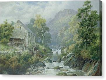 Old Disused Mill Dolgelly Canvas Print by William Henry Mander
