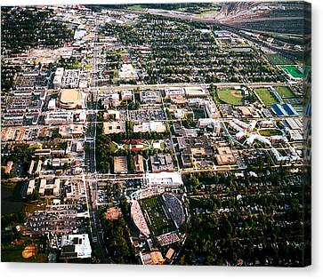 Old Dominion Campus Aerial Canvas Print by Old Dominion University