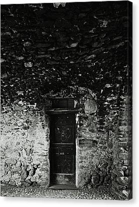 Old Door Under The Porch Canvas Print by Ettore Zani