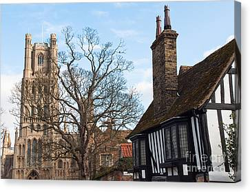 Canvas Print featuring the photograph Old English House by Andrew  Michael
